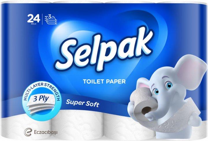 Туалетная бумага Selpak трехслойная Белая 24 рулона (32362000) - изображение 1