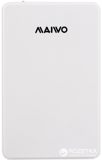 """Внешний карман Maiwo для HDD 2.5"""" SATA USB 3.0 White (K2503D white) - изображение 1"""