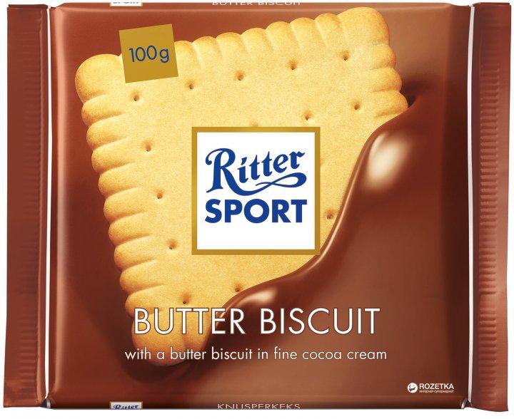 Шоколад Ritter Sport Молочный с начинкой из сливочного печенья 100 г (4000417214003) - изображение 1