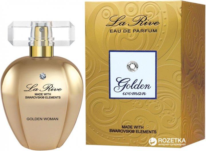 Парфюмированная вода для женщин La Rive Golden Woman Swarovski 75 мл (5901832061175) - изображение 1