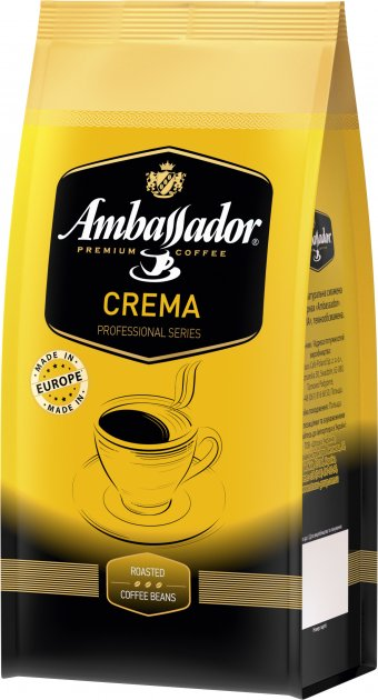 Кава в зернах Ambassador Crema 1 кг (4051146000986) - зображення 1