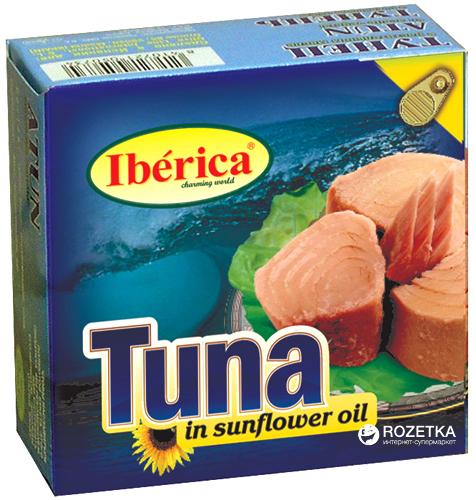 Тунець в соняшниковій олії Iberica 160 г ( 8436024290400) - зображення 1