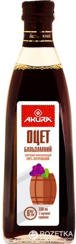 Оцет Akura спиртовий бальзамічний 6% 330 мл (4820178460507) - зображення 1