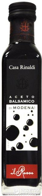 Уксус Casa Rinaldi бальзамический из Модены 6% 250 мл (этикетка красная) (8006165330190) - изображение 1