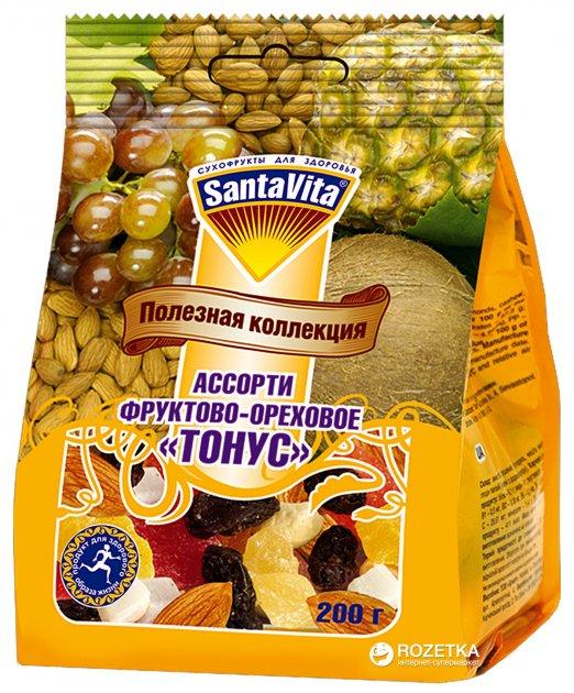 Смесь фруктово-ореховая Тонус SantaVita Полезная коллекция 200 г (4820061500686) - изображение 1