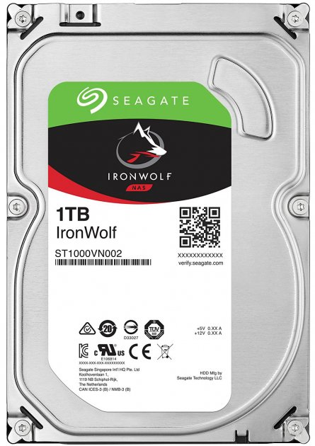 Жорсткий диск Seagate IronWolf HDD 1TB 5900rpm 64MB ST1000VN002 3.5 SATAIII - зображення 1