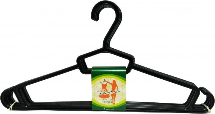 Вешалка для одежды Эталон-С Модерн 44х22 см 5 шт Черная (ВО -04) - изображение 1