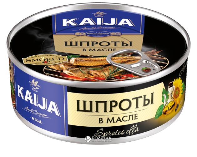 Шпроты в масле Kaija 240 г (4751007730624) - изображение 1