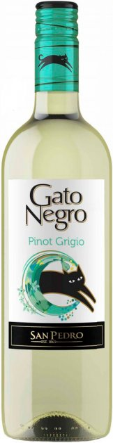 Вино Gato Negro Pinot Grigio белое сухое 0.75 л 12.5% (7798141874965_7804300151034) - изображение 1