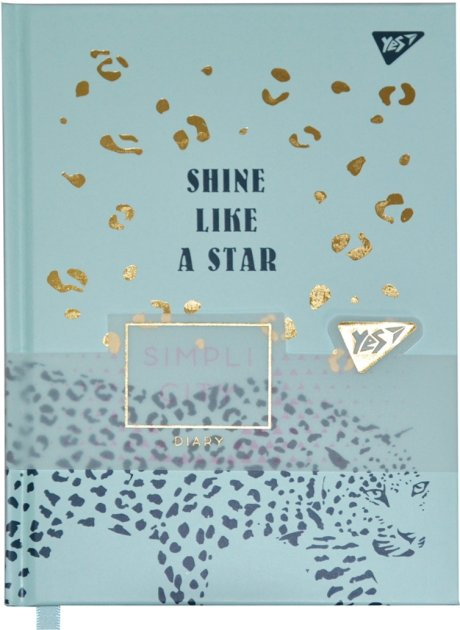Блокнот-мотиватор YES Shine like a star серии Simpli City 130 х 185 мм 160 страниц Бирюзовый (151591) - изображение 1