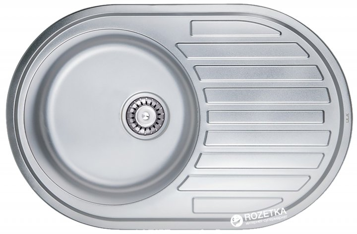 Кухонна мийка ULA 7108 ZS Satin + сифон ULA - зображення 1