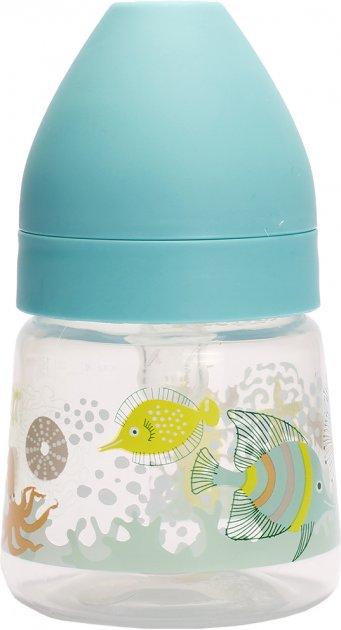 Бутылочка для кормления Lindo LI158 с силиконовой круглой соской и широким горлом 125 мл Зеленая (8850217401587) - изображение 1