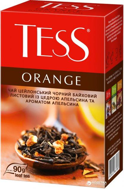 Чай черный рассыпной TESS Orange 90 г (4823096800646) - изображение 1