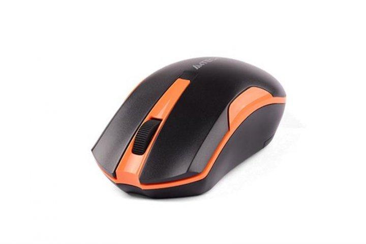 Миша бездротова A4Tech G3-200N Black/Orange USB V-Track - зображення 1