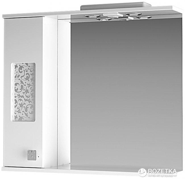 Зеркальный шкаф ВанЛанд Ирис Ирз 2-80 (левый) - изображение 1
