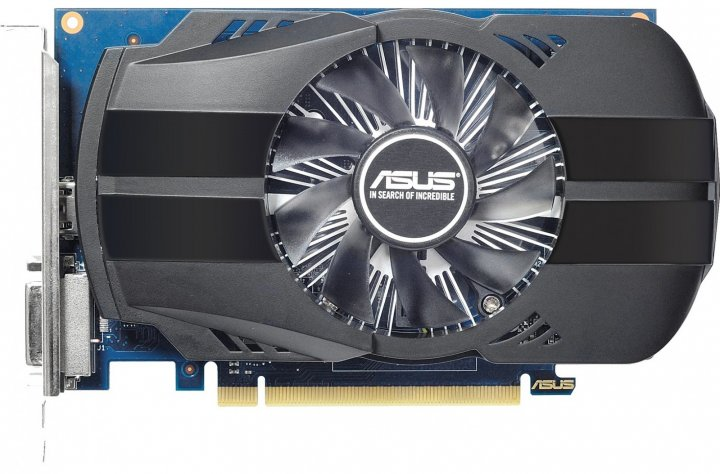 Asus PCI-Ex GeForce GT 1030 Phoenix OC 2GB GDDR5 (64bit) (1252/6008) (DVI, HDMI) (PH-GT1030-O2G) - зображення 1