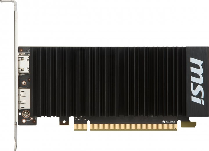 MSI PCI-Ex GeForce GT 1030 Low Profile OC 2GB GDDR5 (64bit) (1265/6008) (HDMI, DisplayPort) (GT 1030 2GH LP OC) - зображення 1