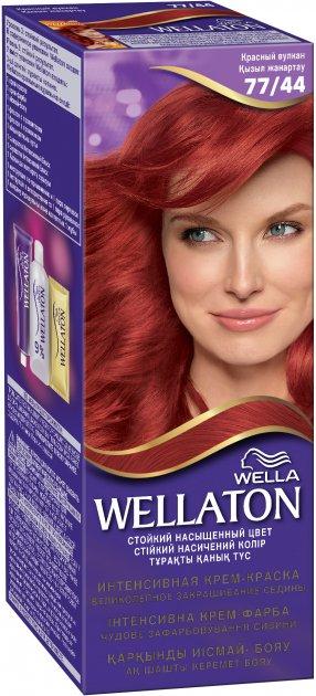 Крем-краска для волос Wella Wellaton интенсивная 77/44 Красный вулкан 110 мл (4056800899821) - изображение 1