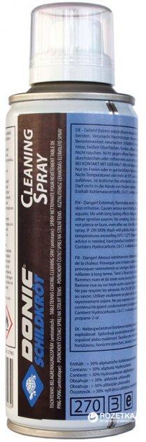 Спрей для чистки ракеток Donic Spray Cleaner Ferosol Bottle 200 мл (828523)