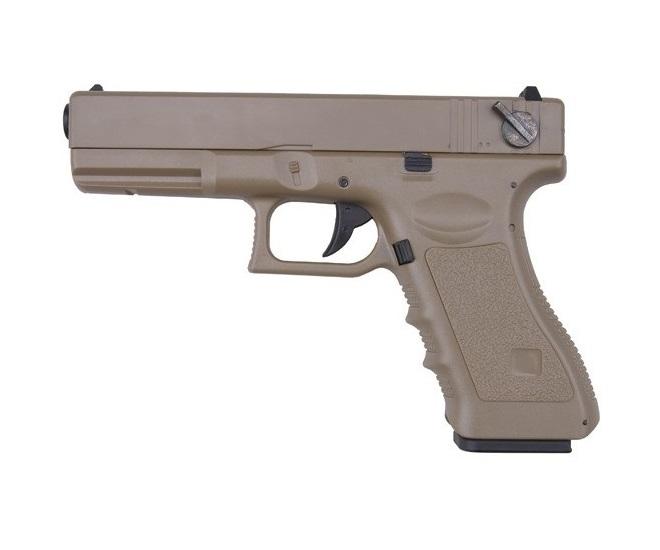 Пістолет Cyma Glock 18 CM.030 AEP Tan (Страйкбол 6мм) - зображення 1