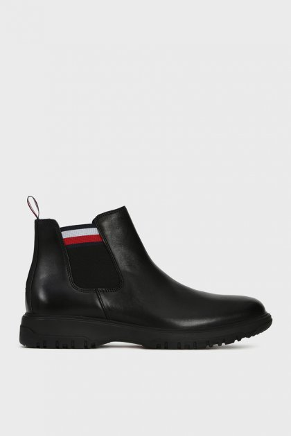 Мужские черные кожаные челси OUTSOLE Tommy Hilfiger 42 FM0FM02419 - изображение 1