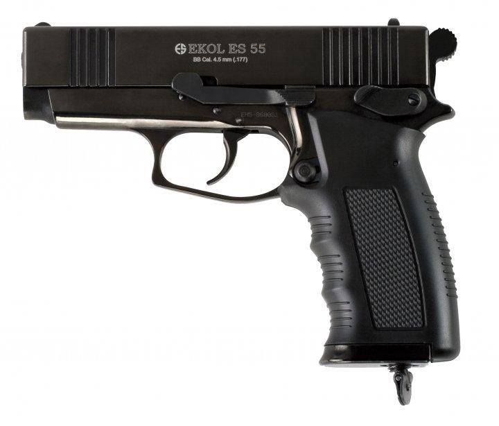 Пневматический пистолет EKOL ES55 Black CO2, 4.5 мм Ekol Черный - зображення 1