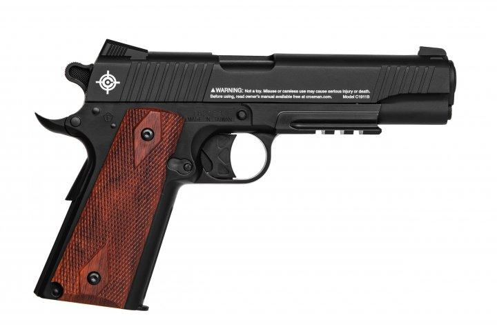 Пистолет пневматический CROSMAN C1911B Crosman Черный / Коричневый - изображение 1