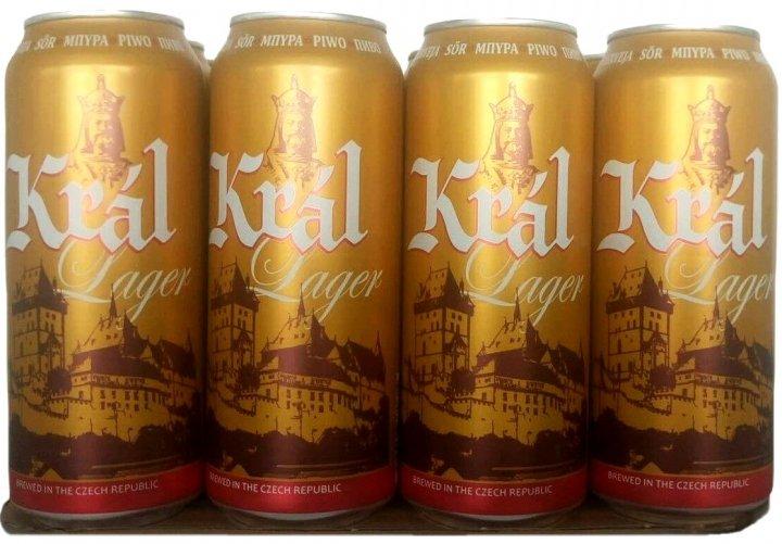 Упаковка пива Kral Lager светлое фильтрованное 4.7% 0.5 л x 12 шт (8594166370814) - изображение 1