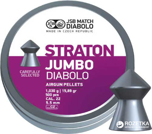 Свинцовые пули JSB Diabolo Jumbo Straton 1.03 г 500 шт (14530518) - изображение 1