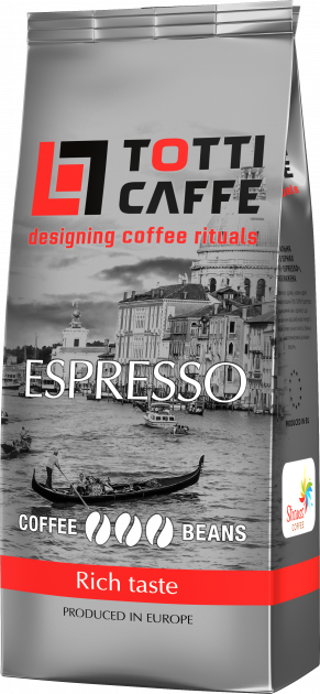 Кава в зернах TOTTI Caffe Espresso 1 кг (8718868141415) - зображення 1