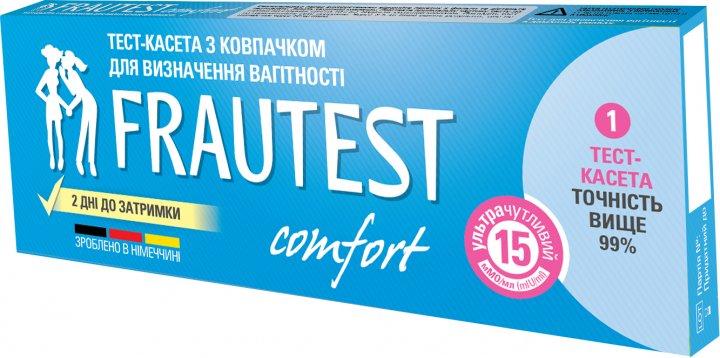 Тест-кассета с колпачком для определения беременности Frautest Comfort (4260476160028) - изображение 1