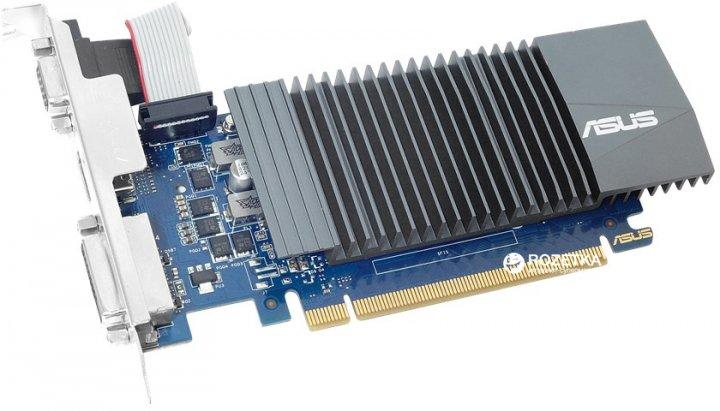 Asus PCI-Ex GeForce GT 710 2GB GDDR5 (64bit) (954/5012) (VGA, DVI, HDMI) (GT710-SL-2GD5) - изображение 1