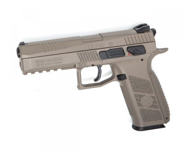 Пістолет пневматичний ASG CZ P-09 Pellet FDE Blowback. 23702878 - зображення 1