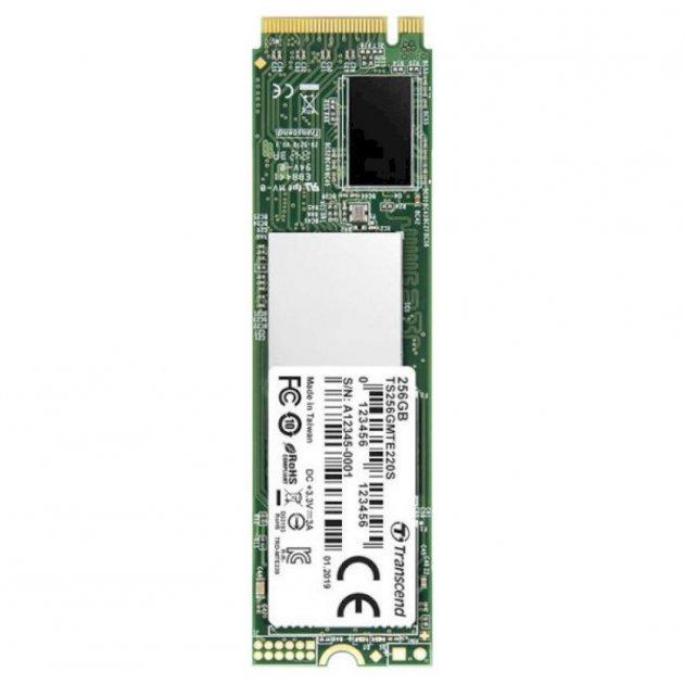 SSD накопитель TRANSCEND 220S 256GB M.2 NVMe PCle (TS256GMTE220S) - изображение 1
