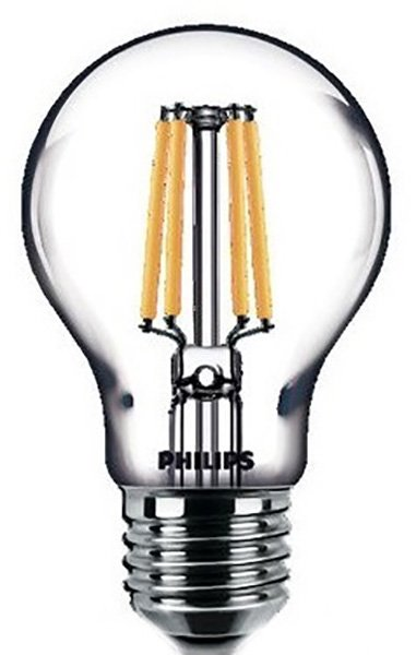 Світлодіодна лампа Philips Filament LED Classic 6-60W A60 E27 865 CL NDAPR (929001974608) - зображення 1