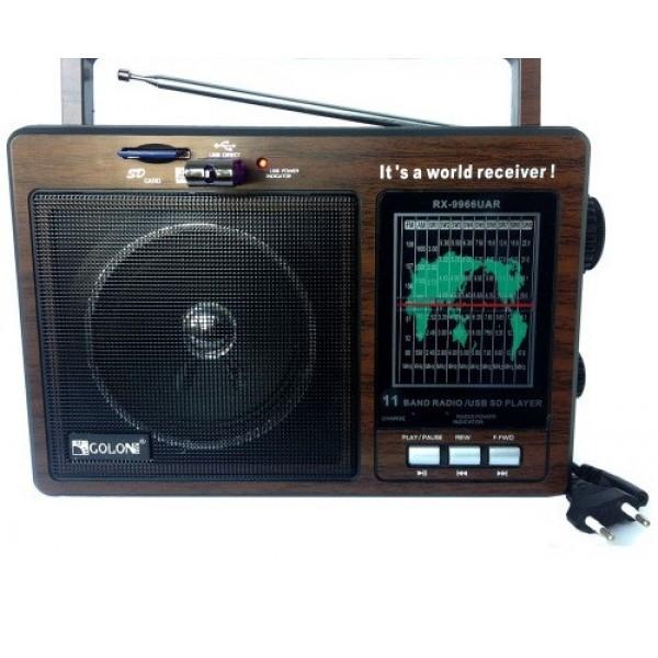 Портативна акустична система GOLON RX-9966, Радіоприймач, Радіо, Акумуляторний радіоприймач - зображення 1