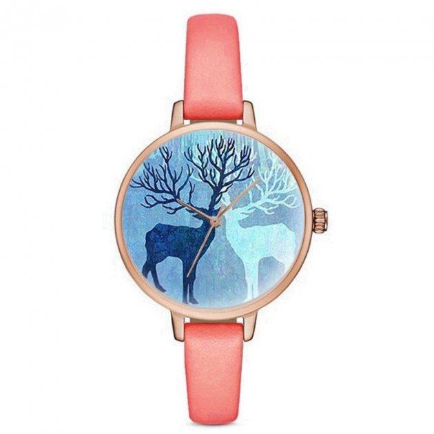 Женские Минималистические часы Geneva, циферблат - синий, арт. (41077) - изображение 1