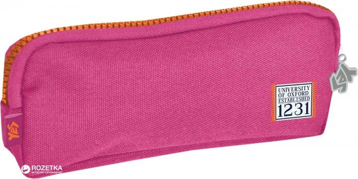 Пенал для девочки YES 1 отделение Розовый (531318) (5060487836528) - изображение 1