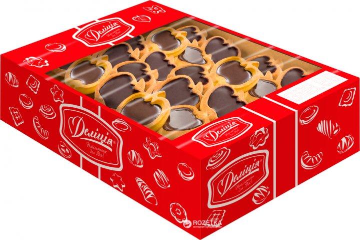 Печенье сдобное Делиция Райськие яблочки 1.1 кг (4820167915582) - изображение 1