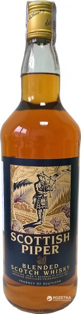 Віскі Scottish Piper Blended витримка 3 роки 1 л 40% (5021692400300) - зображення 1