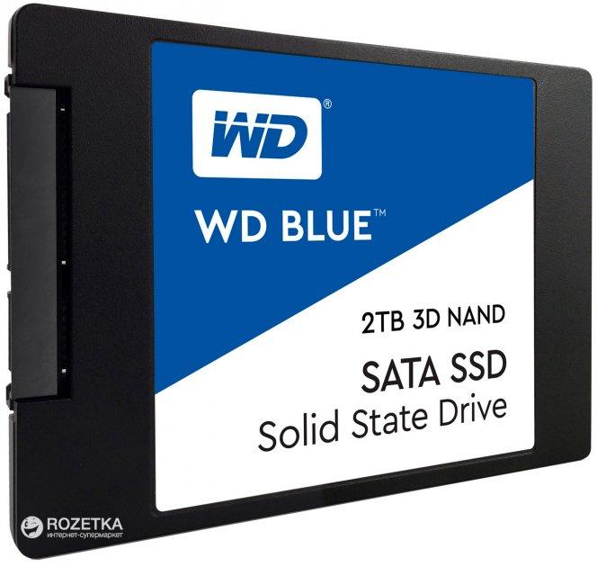 """Western Digital Blue SSD 2TB 2.5"""" SATAIII 3D NAND (WDS200T2B0A) - изображение 1"""