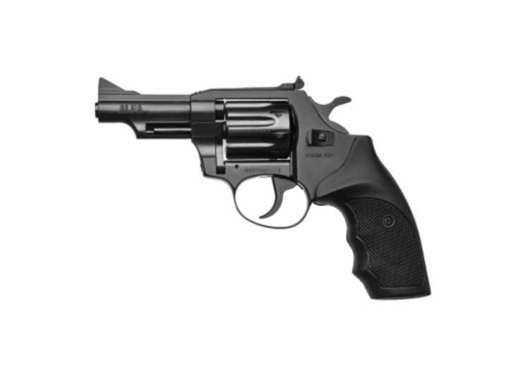 Револьвер під патрон Флобера Alfa mod. 431 ворон/пластик. 14310055 - зображення 1