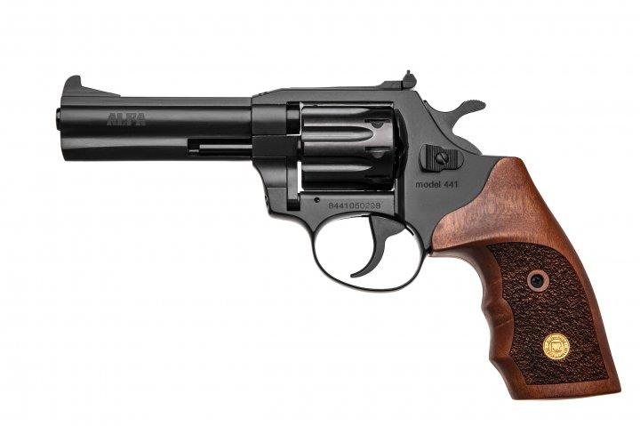 Револьвер под патрон Флобера Alfa mod.441 ворон/дерево. 14310046 - изображение 1