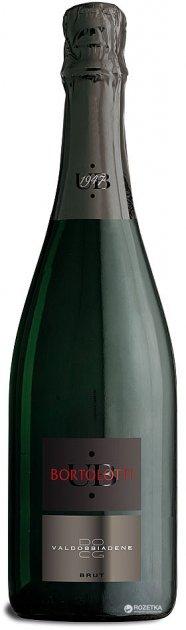 Вино ігристе Umberto Bortolotti Valdobbiadene Prosecco Brut біле сухе 0.75 л 11.5% (8001249101116) - зображення 1