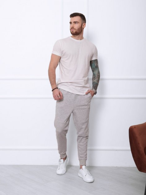 Спортивные штаны ISSA PLUS SA-132 XL Светло-серые (2001012274906) - изображение 1