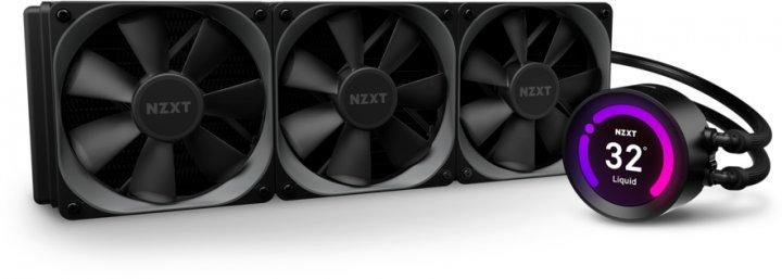 Система жидкостного охлаждения NZXT Kraken Z73 - 360 мм AIO Liquid Cooler with LCD Display (RL-KRZ73-01) - изображение 1