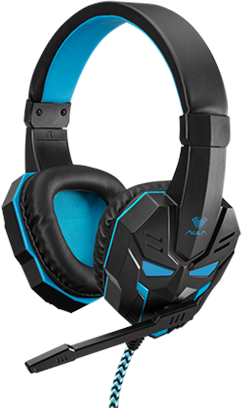 Наушники Aula Prime Basic Gaming Headset Black-Blue (6948391232768) - изображение 1
