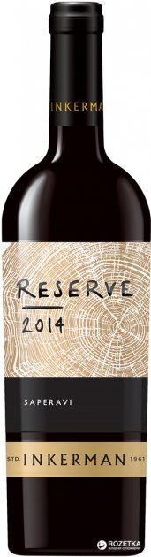 Вино Inkerman Reserve Saperavi червоне сухе 0.75 л 10-14% (4823090000301) - зображення 1