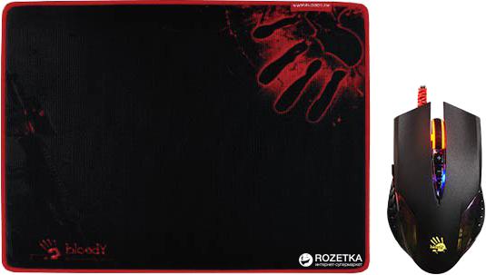 Миша Bloody Q50 Neon XGlide Q5081S USB з ігровою поверхнею Black (4711421930987) - зображення 1