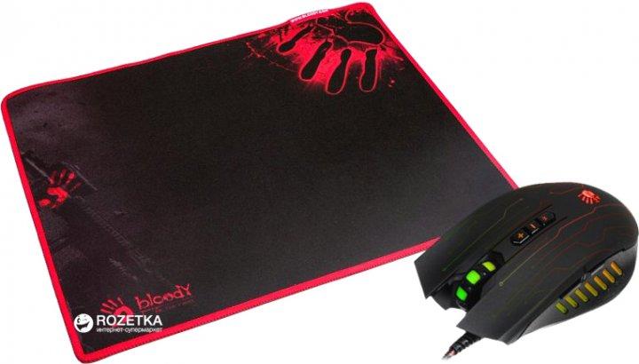 Мышь Bloody Q81 Neon XGlide Q8181S USB Black с игровой поверхностью Black (4711421931052) - изображение 1